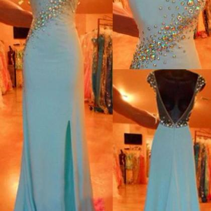 High Quality Prom Dress, Blue Prom ..