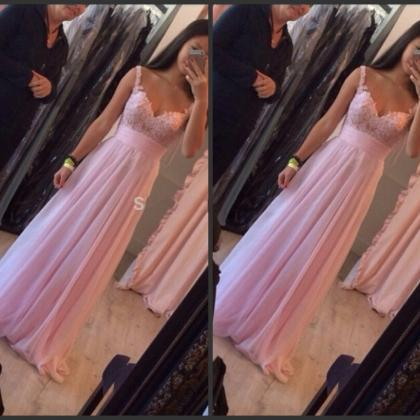 Prom Dress,Pink Prom Dress,Long Pro..