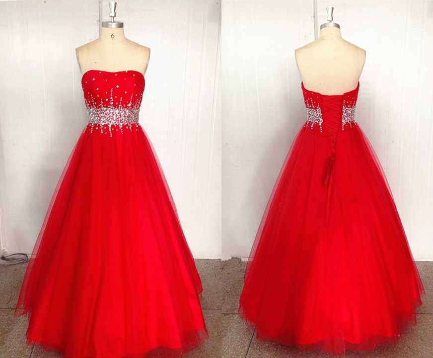 fitted red evening gowns - photo #45