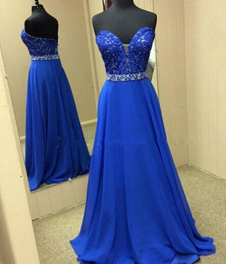 Natural Simple Elegant 2018 Blue Bridesmaid Dresses With: Royal Blue Prom Dresses,2016 Evening Dresses,New Fashion
