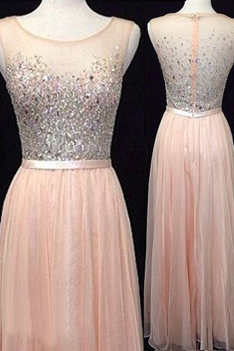 2016 Prom Dresses,Backless Evening Gowns,Light Blush Pink Formal ...