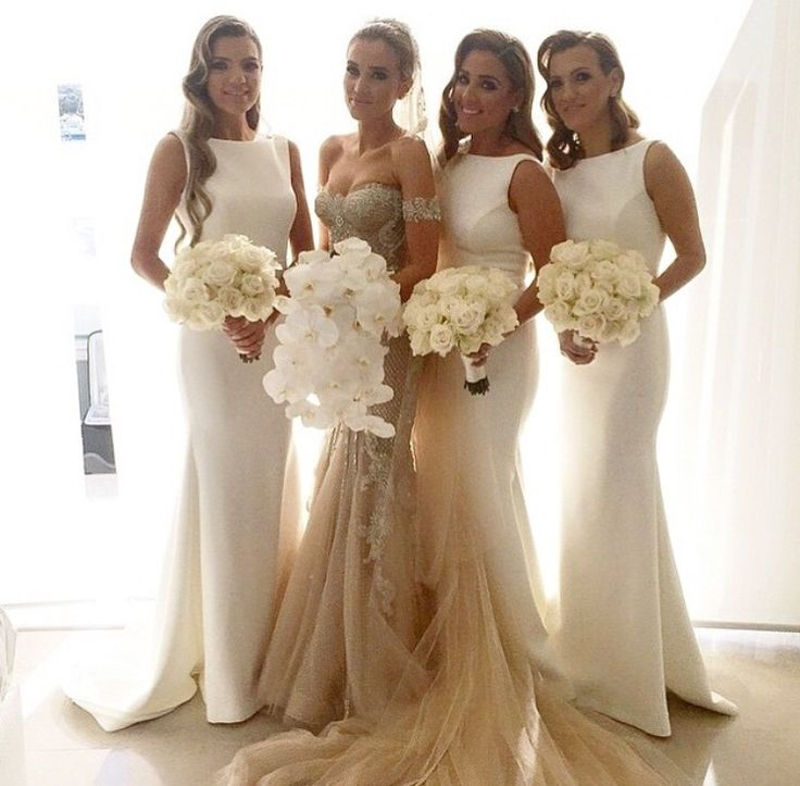 Ivory Bridesmaid Gown Pretty Prom Dresses Mermaid Simple Dress Beautiful 2016 New Style Gowns