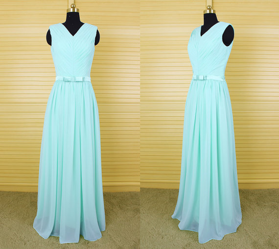 Light Blue Bridesmaid Gown,Pretty Bridesmaid Dresses