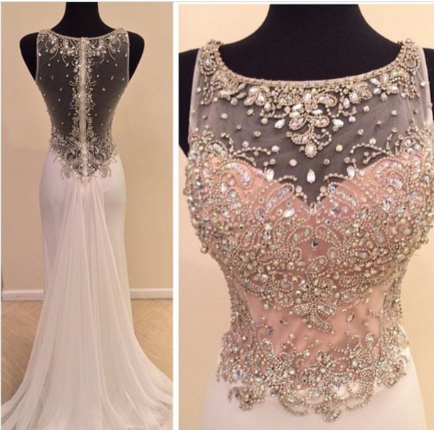 b3ee10b329 2015 Real Made Beads Prom Dresses