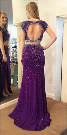 New Arrival Sexy Prom Dress,2 pieces Prom Dresses,Long Evening Dress,Formal Dress