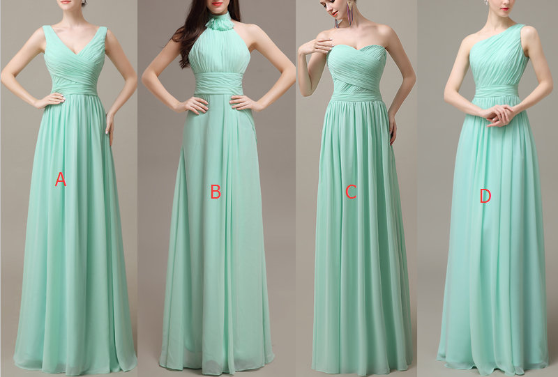 Cheap Bridesmaid Dress,Mint Green Bridesmaid Dresses,Floor Length ...