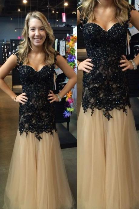 Appliques Prom Dresses, Discount Prom Dresses, Long Prom Dresses, Sweetheart Prom Dresses, Dresses For Prom