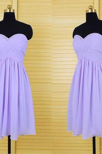 Lilac Bridesmaid Dresses,Short Bridesmaid Gown,Summer Bridesmaid Gowns,Beach Bridesmaid Dress,Backless Bridesmaid Gown,Fall Open Back Bridesmaid Dress For Modest Brides
