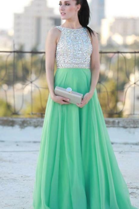 New Arrival Prom Dress,Long Prom Dresses,Cheap Prom Dresses, Evening Dress,mint Prom Gowns,Women Dress