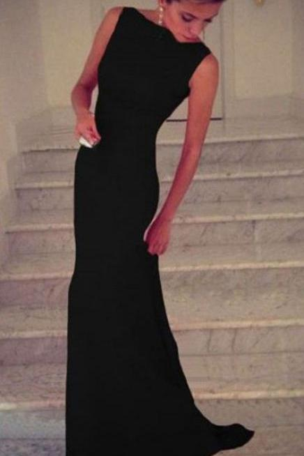 Prom Dress,Black Chiffon Prom Dress,Black Mermaid Prom Dress,Long Evening Dress,Formal Dress,Women Dress