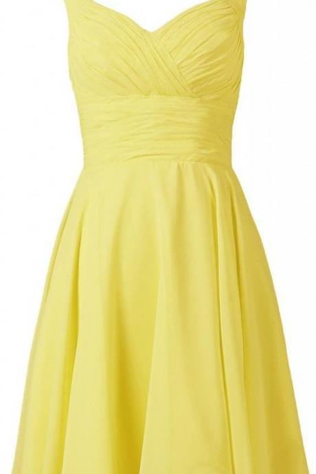 Short Homecoming Dress,Homecoming Dress,Yellow Homecoming Dresses,Short Prom Dress