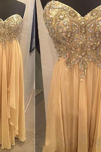 Long Evening Dress,Formal Dress,Sexy Prom Dress,Evening Gown,Beading Sweetheart Prom Dresses