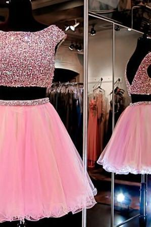 Charming Prom Dress,New Prom Dress, 2 pieces Homecoming Dress,2 piece Prom Gown,Short Party Dress
