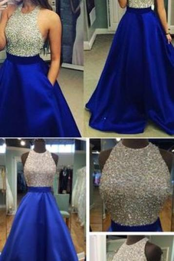 New Arrival Sexy Prom Dress,Royal Blue Prom Dresses,Long Evening Dress,Formal Dress