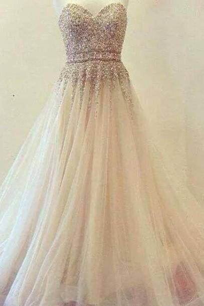 High Quality Prom Dress,Sweetheart Prom Dress,Tulle Prom Dress,Beading Dress,Noble Prom Dress,Prom Gowns 2016,Dress For Prom,Formal Dress,A line Evening Dress
