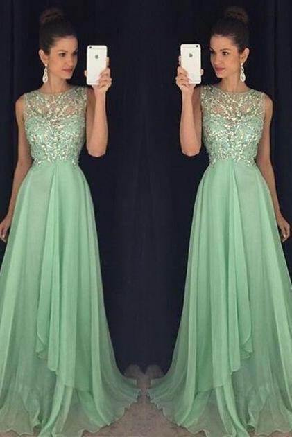 High Quality Prom Dress,Beaded Chiffon Prom Dress,Long Graduation Dress,Prom Formal Dress,Prom Dress 2016,A line Evening Dress,Noble Prom Gowns,Modest Evening Gowns
