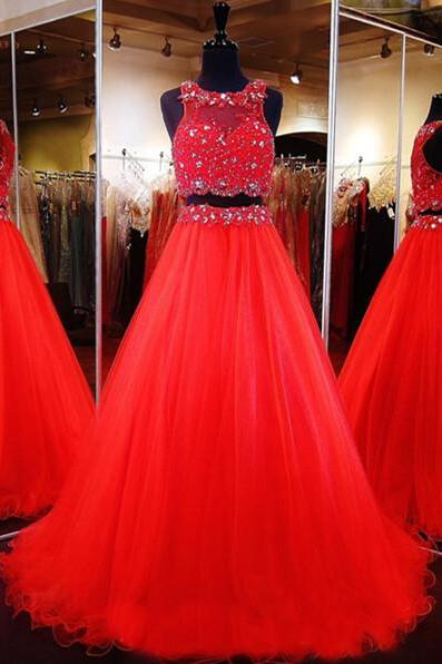 New Arrival Sexy Prom Dress, Prom Dresses,2016 2 Pieces Prom Dress Evening Gown Pageant Dress