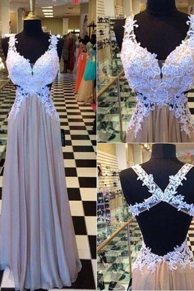 Charming Prom Dress,Sexy Prom Dress,Backless Prom Dress,Long Evening Dresses