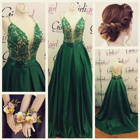 High Quality Prom Dress,Backless Prom Dresses,Sexy Green Prom Gowns,Green Prom Dresses 2016, Party Dresses 2016,Long Prom Gown,Prom Dress,Sparkle Evening Gown